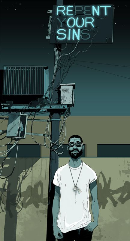 #gavinreece #newdivision #illustration #stylised #contemporary #textured #character #urban