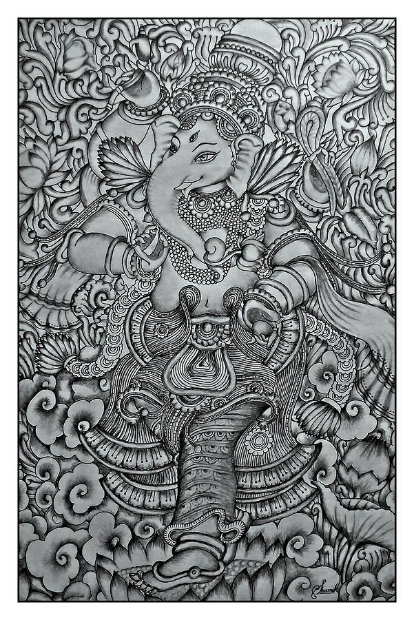 ganesha-mural-pencil-drawing-by-shamil-art-shamil-art.jpg (601×900)