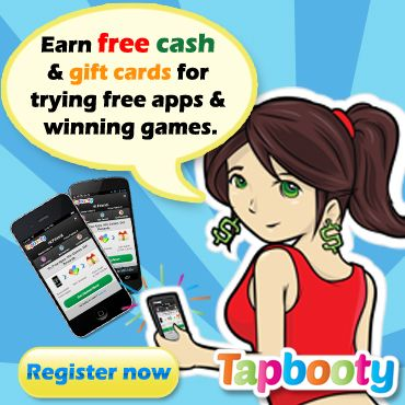 Tapbooty: Earn Free Cash & Gift Cards