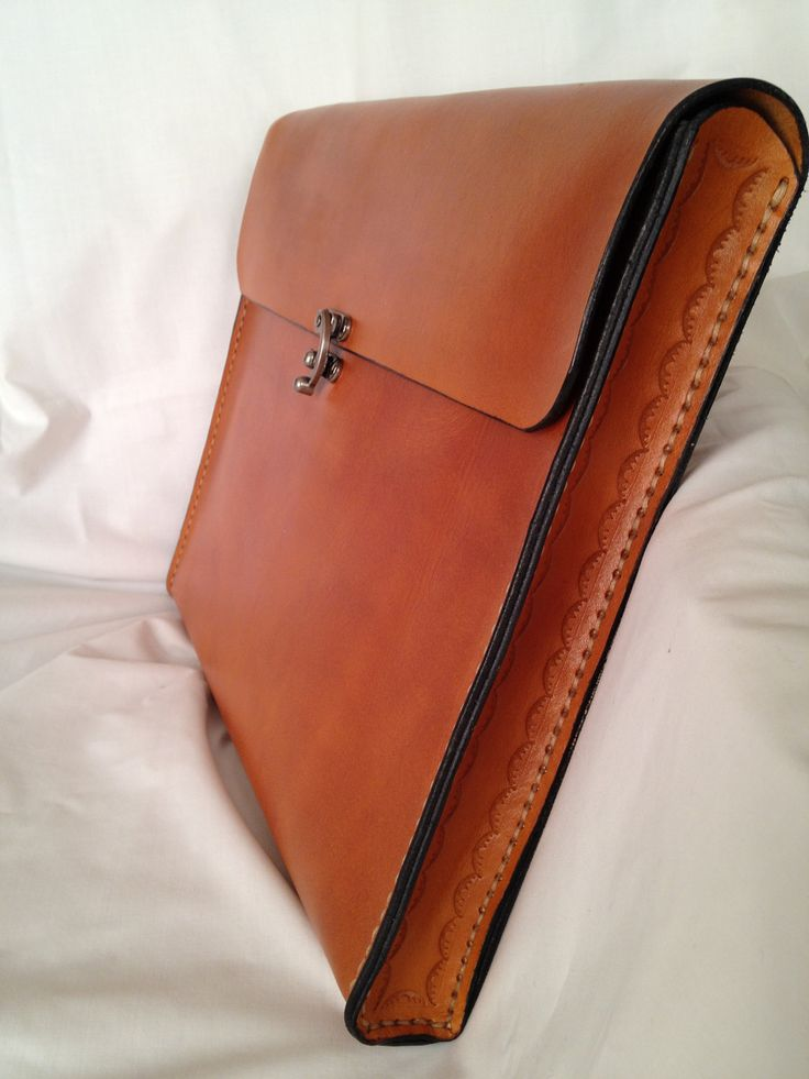Portfolio Brief Case Genuine Leather Handmade by HeirloomLeather, $139.00