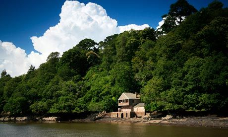Discover Agatha Christie's holiday home in Devon - with a walk across a pebbled beach and woodlands.