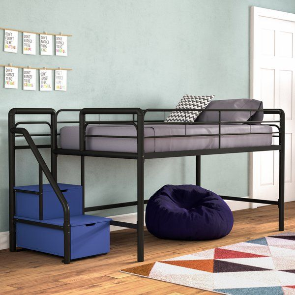 Bewley Junior Twin Low Loft Bed With Drawers Low Loft Beds Twin