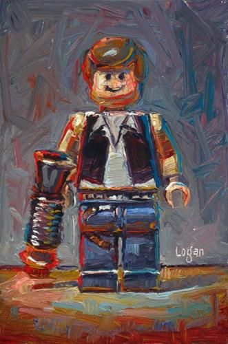 """LEGO Star Wars Han Solo"" - Original Fine Art for Sale - © Raymond Logan"