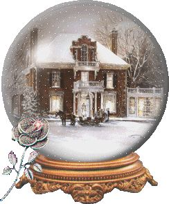 Victorian house snow globe.  Beautiful.  I want one of these.