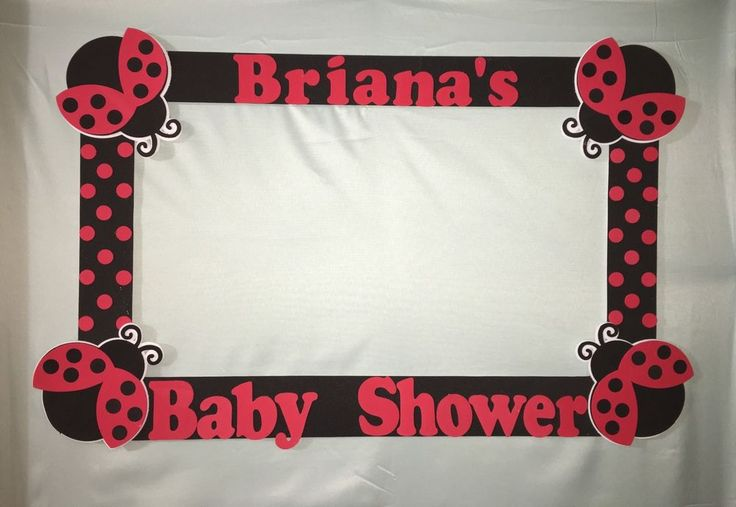 Ladybug Baby Shower Lady Bug Photo Booth Frame to Take Pictures Birthday | eBay