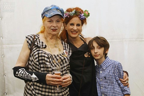 Rossana Diana - the RedHead with Eddy and Vivienne Westwood