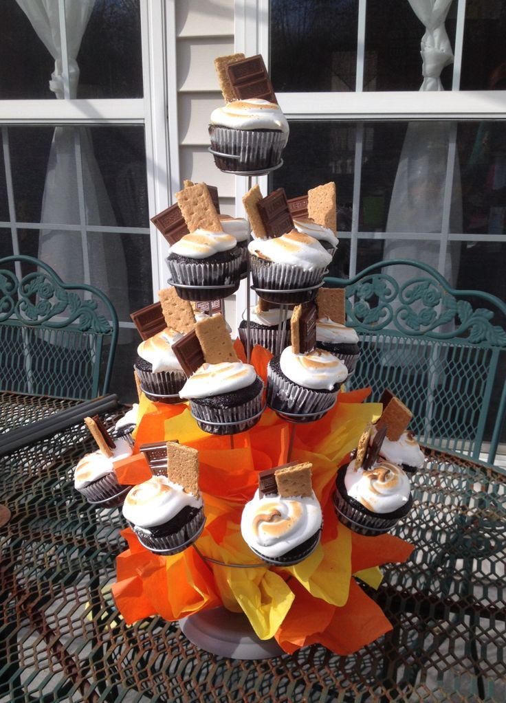 S'more Cupcakes for Cub Scout Blue and Gold/Crossover Ceremony.  Hope we win the dessert contest!