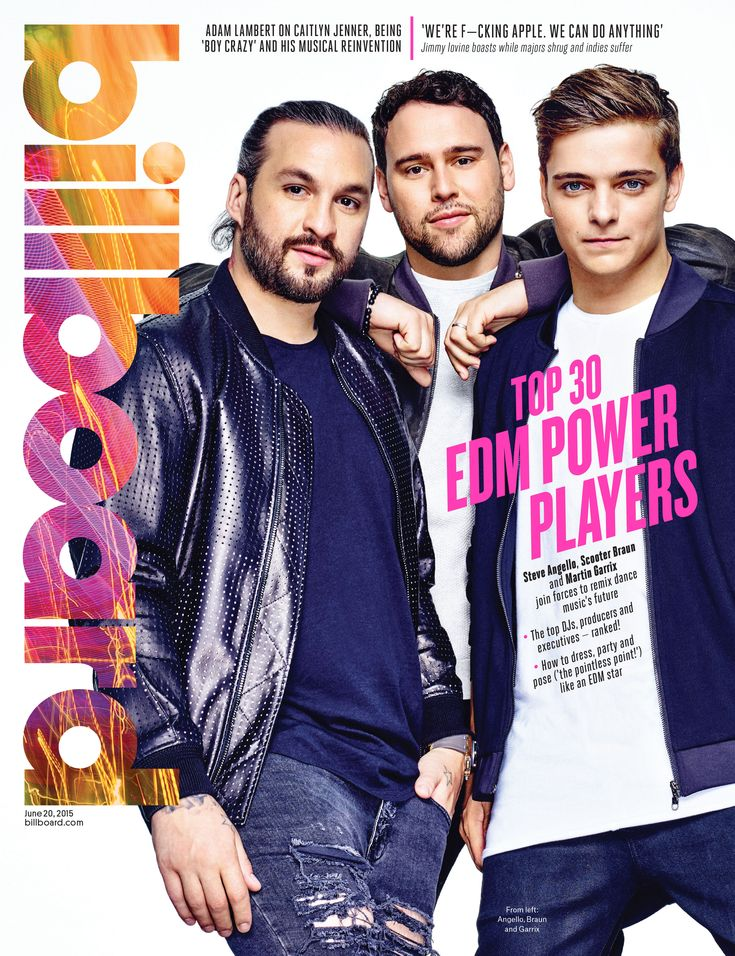 Billboard Cover Sneak Peek: Scooter Braun, Steve Angello and Martin Garrix are Among Billboard's Top 30 EDM Power Players