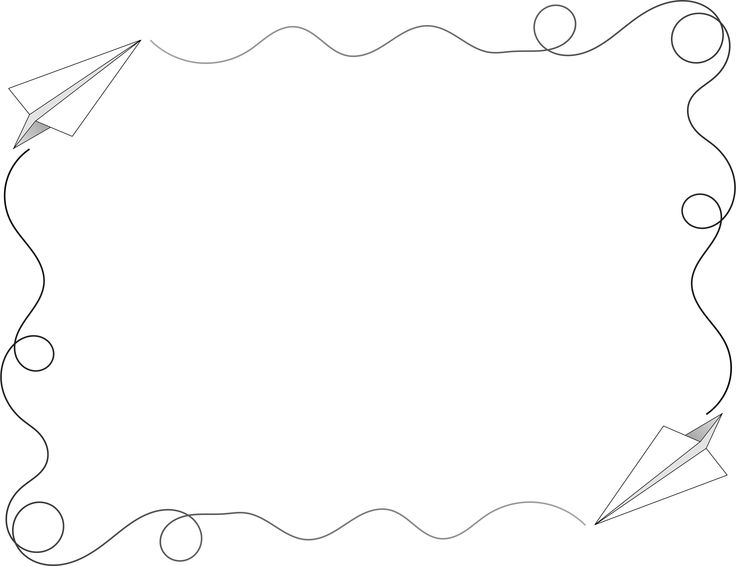 Paper Airplane Border By Arvin61r58 Paper Airplane Frame