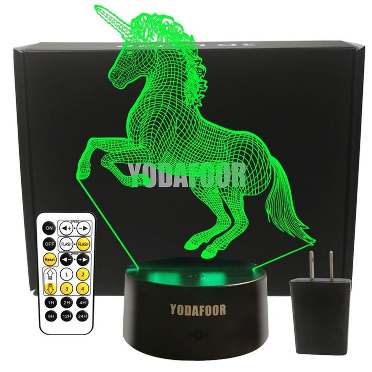 Unicorn Hologram Unicorn Gifts To Buy On Amazon Touch Lamp Night Light Kids Night Light
