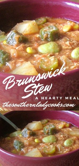 This Brunswick Stew makes a hearty meal with some cornbread.It is a great stew to make in the fall of the year of for a hayride or any gathering.