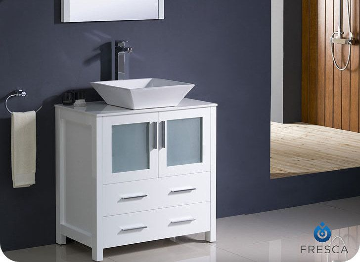 Photographic Gallery  Torino inch White Vessel Vanity FVNWH VSL by Fresca
