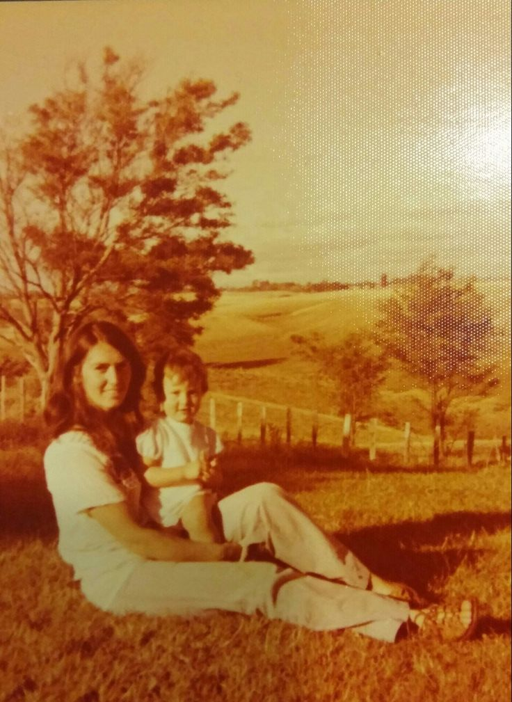 My beautiful mum and me in the 70's