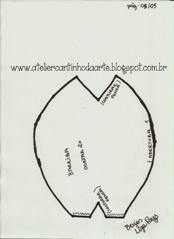 Atelier Cantinho da Arte Artesanato em Madeira e tecido: {Plantão} Molde urso de tecido