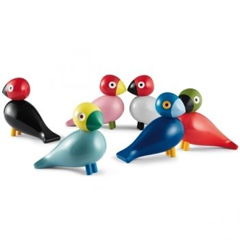 The Songbird collection manufactured by Rosendahl, Denmark, 2012.  The Songbird is a modern creation from Kay Bojesen's design archive that joins the family of wooden animals created by the artist in the middle of the 20th century. The Songbirds were designed in the 1950s but were never put into production at the time.  Each one is named after a different member of the designer's family.