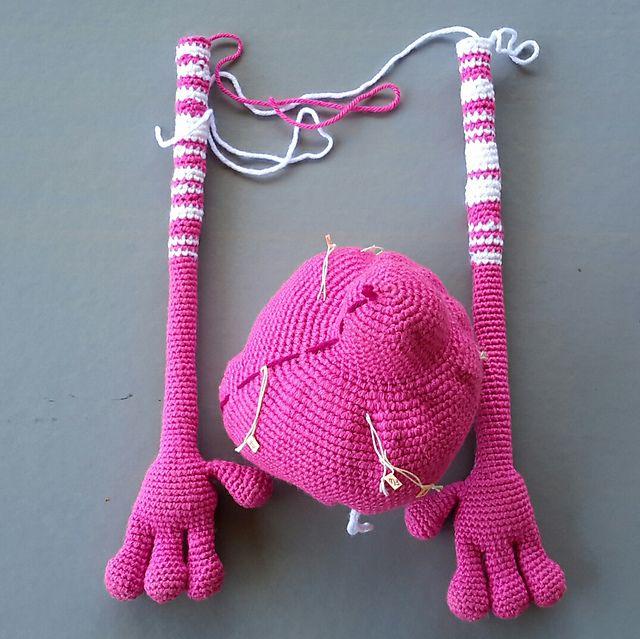 Revelry: jodnls' Dude Rabbit 121 Rabbit dude crochet pattern from LittleOwlsHut  was used to make this guy.