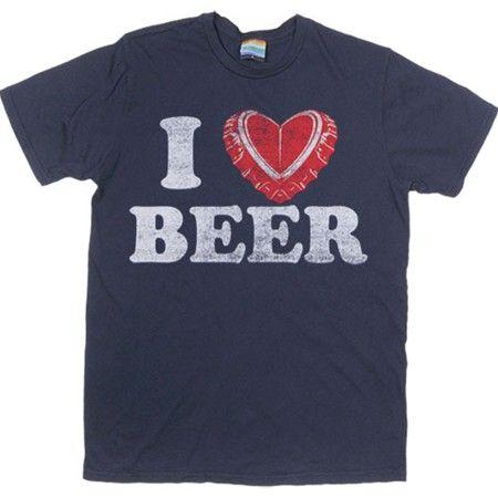 Men's Navy I Cap Beer T-Shirt | Beer Tshirts | PalmerCash.com