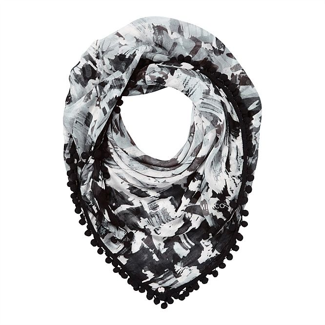 Designer Silk & Wool Scarves For Women | Mimco - ACCELERANDO SCARF