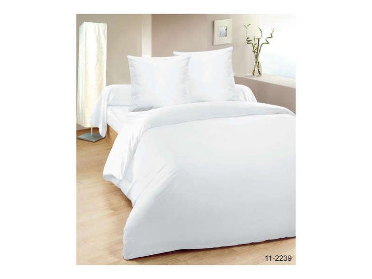 Parure housse de couette 200x200 cm + 1 taie d'oreiller 63x63 cm UNICO coloris blanc Conforama à 25€ (rajouter 1 taie)