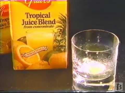Graves Tropical Juice Blend Commercial 1988