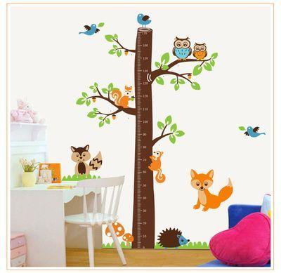 """Интерьерные наклейки :: Детские наклейки на стену :: Виниловые наклейки-ростомер """"Дерево"""" - Купить виниловые наклейки на стену """"Wallbeauty"""""""