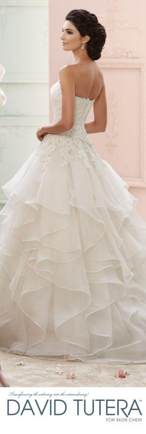 The David Tutera for Mon Cheri Fall 2015 Wedding Gown Collection - Style No. 215270 Guinevere davidtuteraformoncheri.com #weddingdresses #weddinggowns