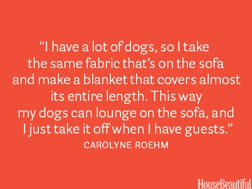 Make an extra slipcover out of your sofa fabric. Protection against pets & stains! #decorating #sofas #pets: Houses Beautiful, Decor Tips, Good Ideas, Dogs Blankets, Decor Secret, Interiors Design, Pet Stained, Design Secret, 101 Decor