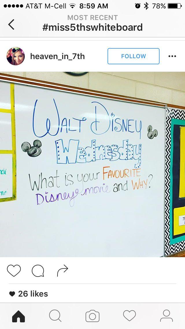 Walt Disney Wednesday - Favorite Disney Movie and Why? #whiteboard #thoughtinspiration