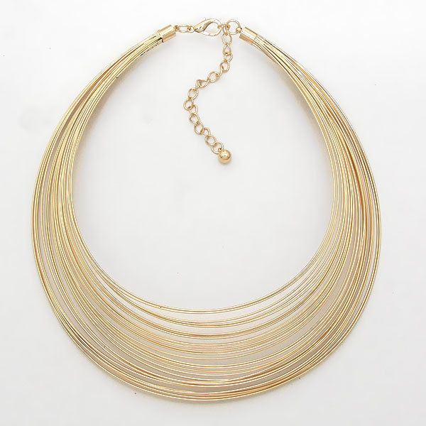 UnikLook Jewelry - Opulence gold - silver wire choker Necklace , $20.00 (http://www.uniklook.com/opulence-gold-silver-wire-choker-necklace/)
