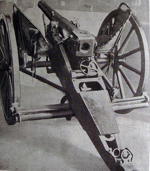 Cannone da 7 BR Ret. Camp. (Bronzo Rigato a retrocarica campale.)  Adottato nel 1874 e rimpiazzato nel 1904 dal cannone 70/A. Most likely gun to be deployed at Adowa.  (No known manufacturer, but it looks similar to Krupp 7.5cm for conversion.)  http://it.wikipedia.org/wiki/7_BR_Ret._Camp.