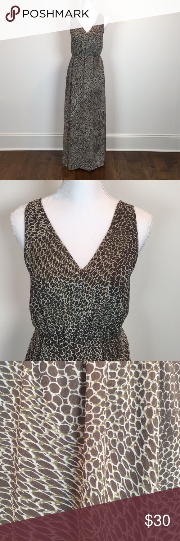 """Banana Republic Animal Print Maxi Dress Excellent like new condition!  No flaws.  Elastic waist and bra strap ties.  Fully lined. Measures approximately 17.5"""" armpit to armpit and 55"""" shoulder to hem. Banana Republic Dresses Maxi"""