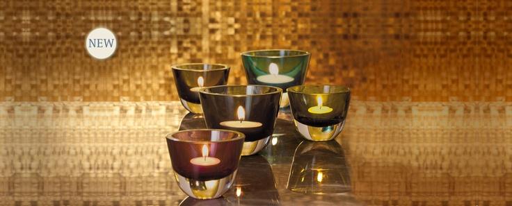 Yuna - jednoduché barevné svícny