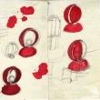 I disegni originali della lampada Eclisse di Vico Magistretti per Artemide