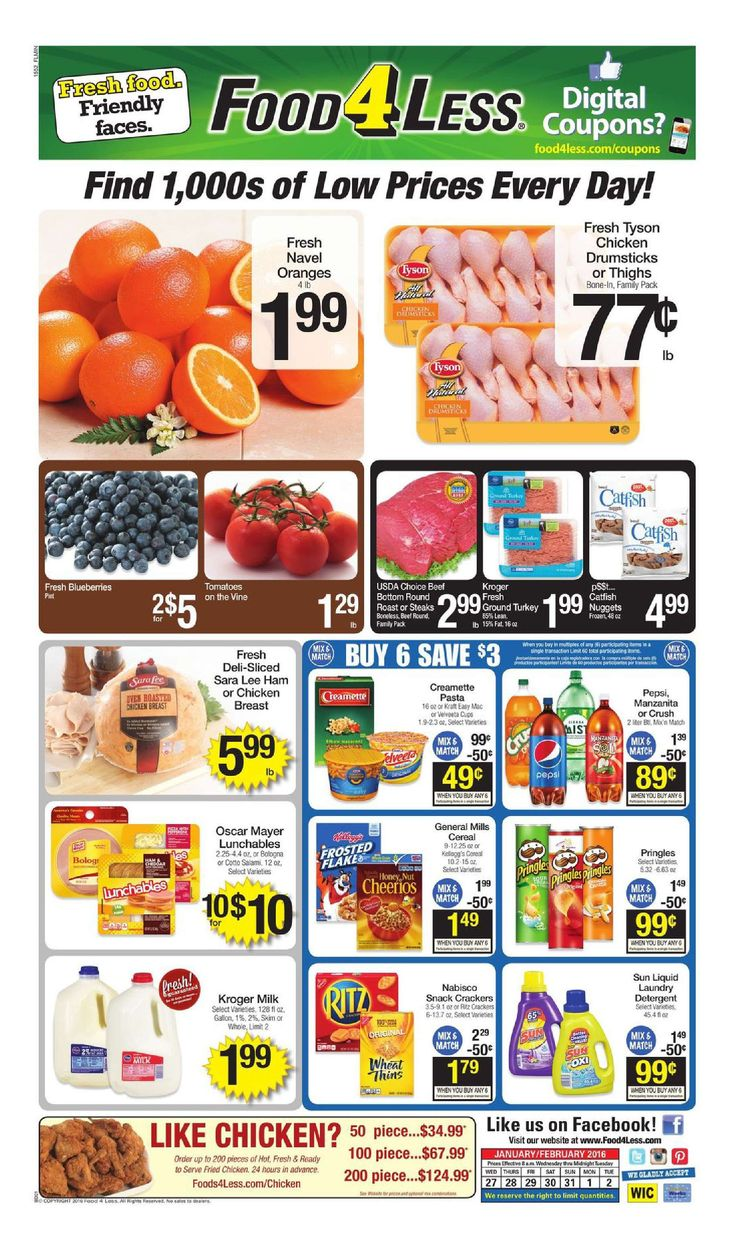 Food 4 Less Weekly Ad January 27 - February 2, 2016 - http://www.kaitalog.com/food-4-less-weekly-ad.html