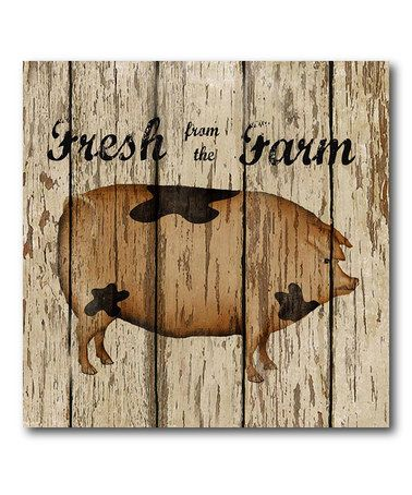 Take a look at this 'Fresh from the Farm' II Canvas Wall Art by COURTSIDE MARKET on #zulily today!
