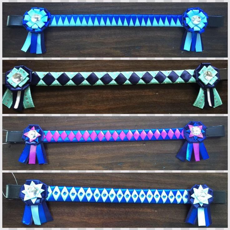 Custom ribbon browband with diamantés by TessasBraidedBands on Etsy https://www.etsy.com/listing/270697693/custom-ribbon-browband-with-diamantes
