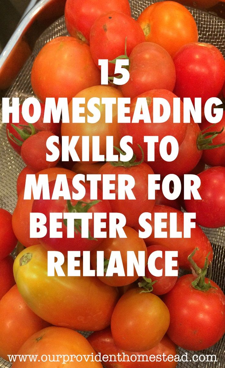 Does the sheer amount of skills you need to learn for homesteading seem overwhelming? Click here to see 15 homesteading skills you should learn to help you thrive. #homesteading #homesteadingskills #countrylife