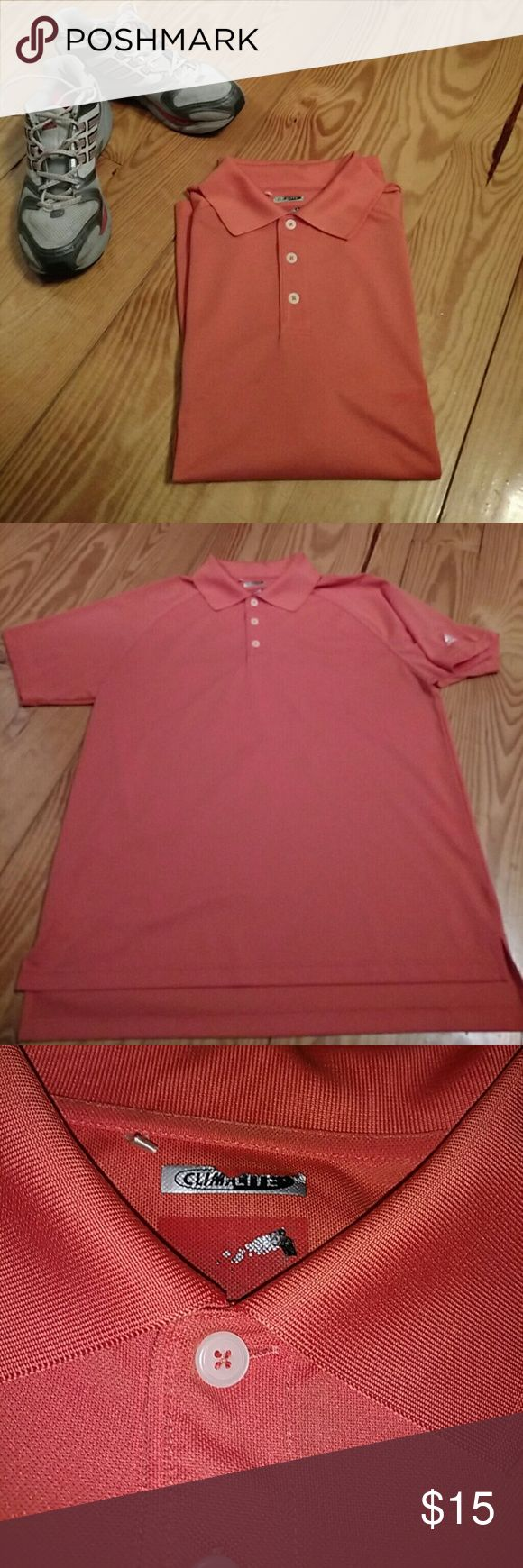 ADIDAS Climalite Polo Orange Adidas Polo. Good condition, except for some wearing to the inside collar area where the inside tags have worn off. DRI FIT. Adidas Shirts Polos