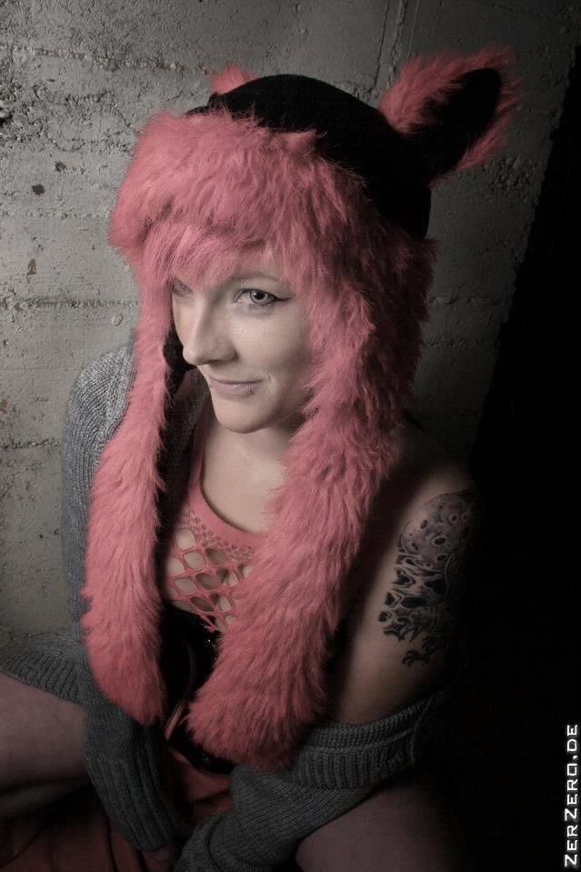 Want more of @ZerZero ARTcore ??? Visit me @ www.fb.com/zerzero.official, www.zerzero.de or www.instagram.com/zerzero_de | Model: Kelaino | #pink #furry #eyes #goth #sexy #model #piercing #alternative #corset #scene #tattoo #cute #girl
