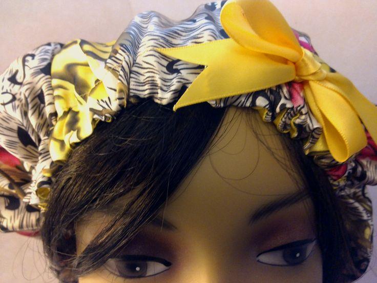 Ex.Large-Animal Print/Satin Sleep Cap/Satin Hair Bonnet/Large Satin Bonnet/Reversible/XL-LONG Hair Bonnet/Dreadlock Bonnet/Braids/Chemo Cap by AuntieGodmothers on Etsy