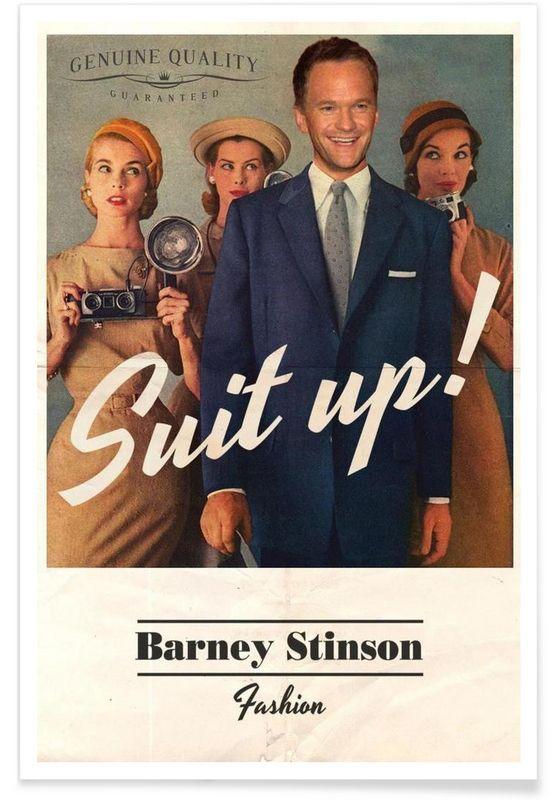 Barney als Premium Poster door Ads Libitum   JUNIQE