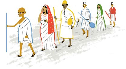 Google Celebrates India's Independence Day by historic Dandhi March on Today New Trend http://www.todaynewtrend.com