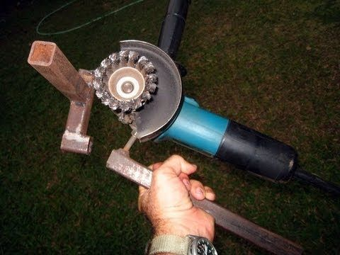 This is my favourite and pretty much the most used tool around the workshop. I have a proper Bench Grinder which I never use anymore. Simply because compare to a vice mounted hand held grinder it is a lot less powerful. Plus with this contraption I can use the Wire Wheel, the Sander and the Grinding Wheel for long periods of time and with a lot more control. It costs next to nothing to make.
