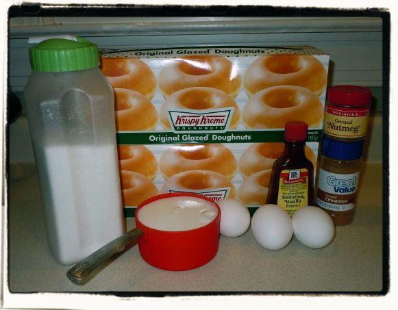 Krispy Kreme Bread Pudding Recipe | Confessions of a Semi-Domesticated Mama