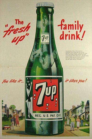 1948 7-Up Soda Ad ~ Giant Bottle