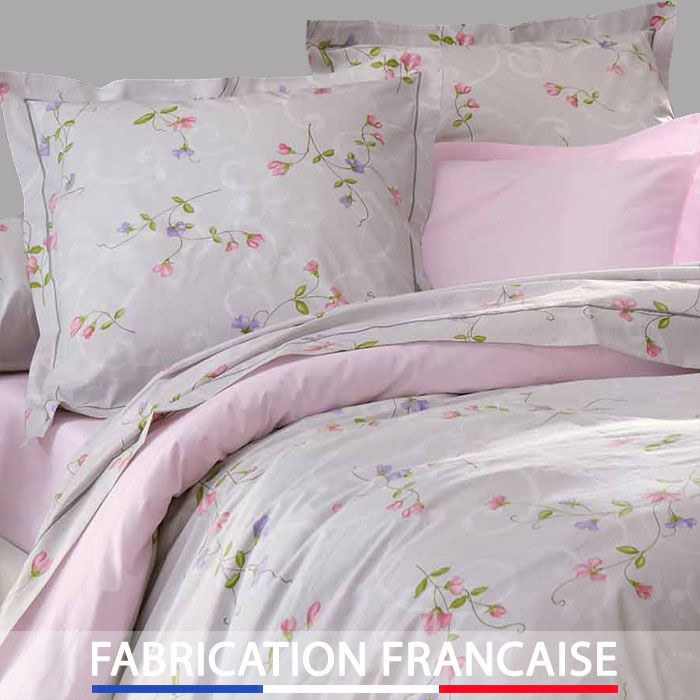 housse de couette 240x260 fleur feeling 2 taies d. Black Bedroom Furniture Sets. Home Design Ideas