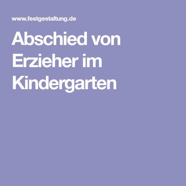 Abschied von Erzieher im Kindergarten