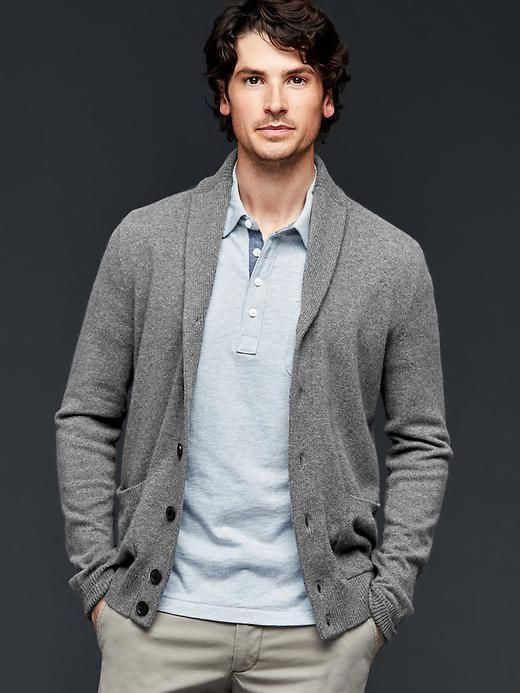 See how others are styling the Gap Men Cashmere Shawl Cardigan - Charcoal Gray. Check if your friends own the product and find other recommended products to complete the look.
