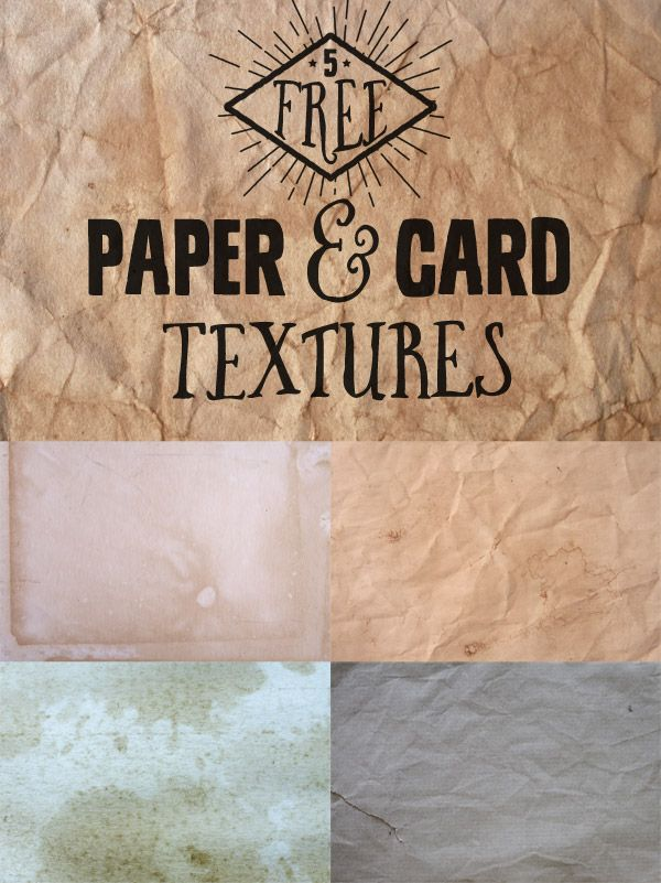 5 free high resolution grungy paper & card textures by Spoon Graphics