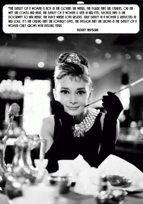 Audrey Hepburn Lovely Fashion Quote Audrey Hepburn